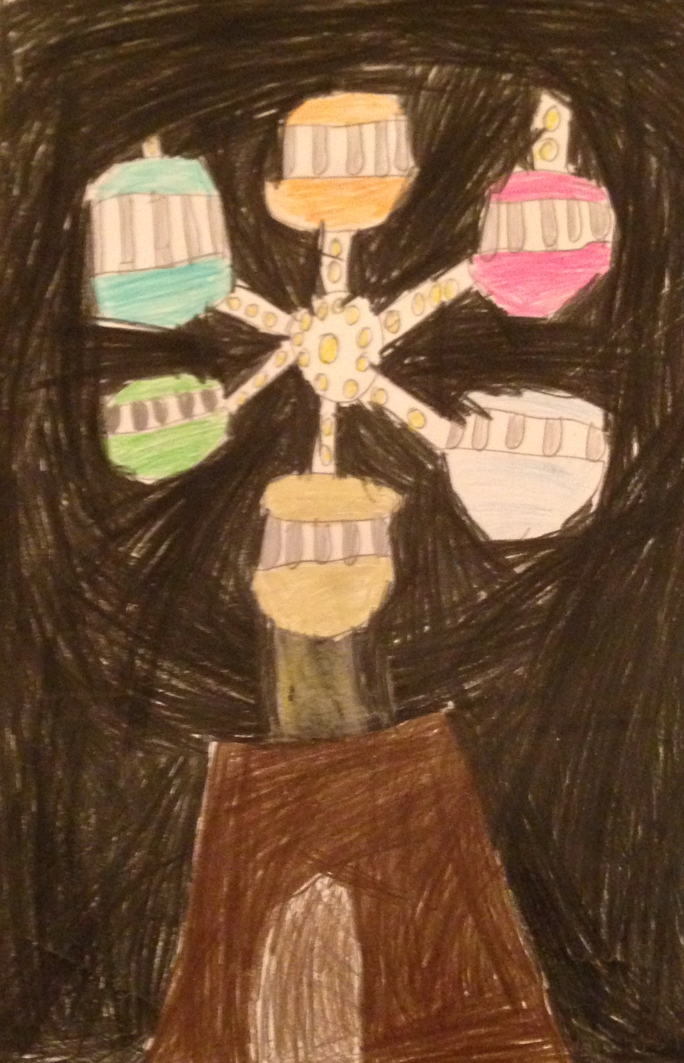 "Category A Winner "" Ferris Wheel "" by Clídna Buttimer 2nd Class Kilbrin N.S."
