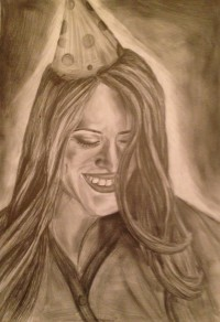 """Category F & Overall Winner """"Celebratory Emotions"""" by Siobhán O'Connor  5th Year Colaiste Treasa."""