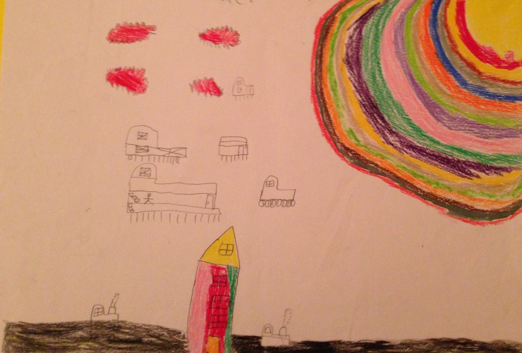 """The Future plus the Past "" by Callum Marwood 3rd Class St. Colemans's B.N.S."
