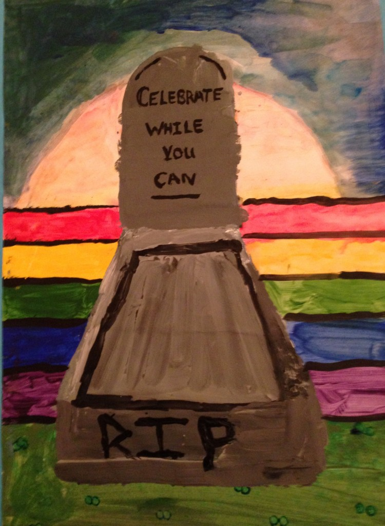 Celebrate The Colours of Life by Jackie Osei 2nd year Scoil Mhuire
