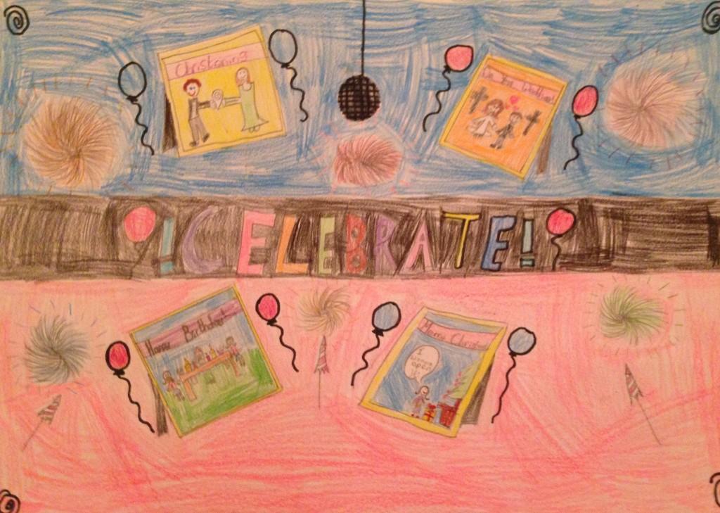""" Celebration Time"" by Eabha Keating 3rd Class Banteer N.S."