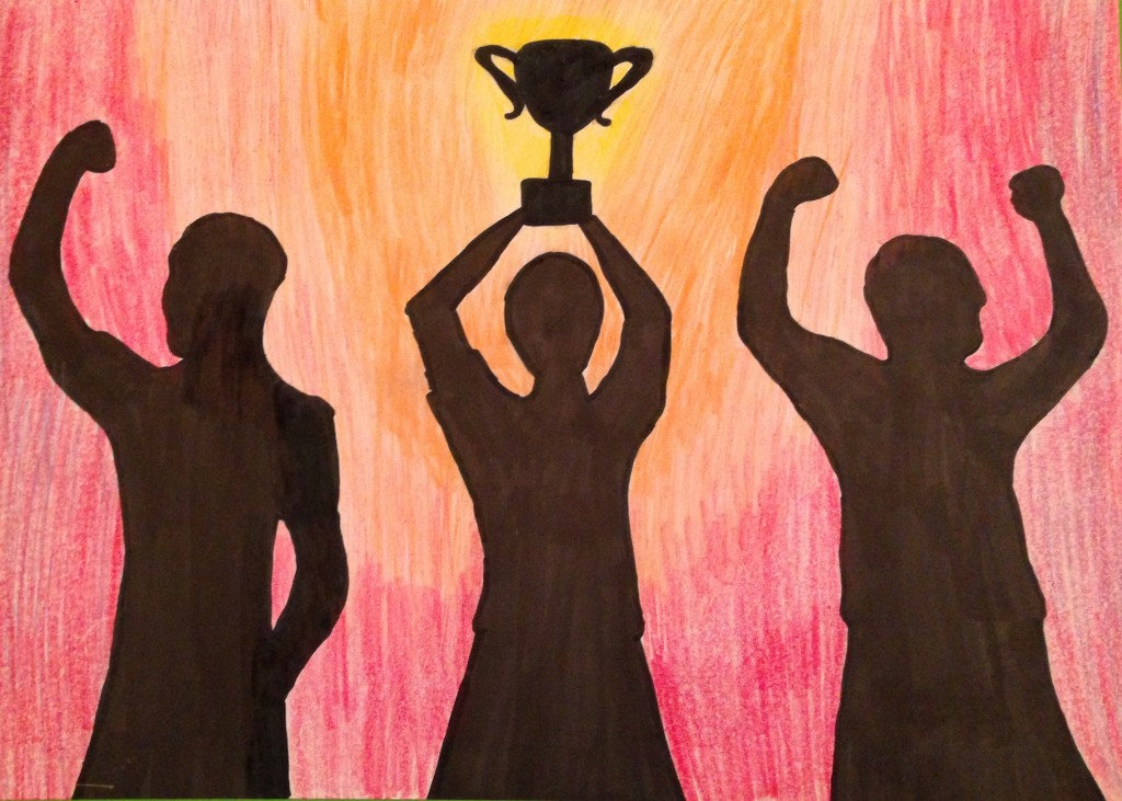 Winning the Cup by Maria McSweeney 1st Year Colaiste Treasa
