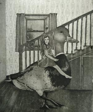 'Giant Duck'Etching and Aquatintby Bríd Moynahan